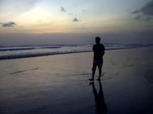Stuning Sunset at Kuta Beach Bali
