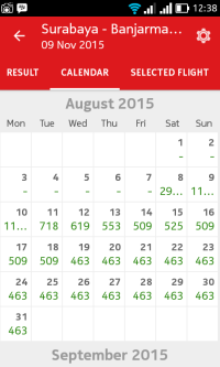 View Kalender di Airpaz Aplikasi